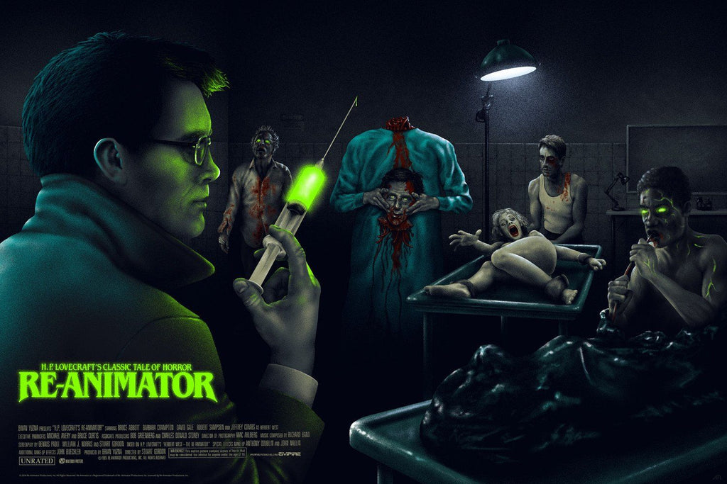 H.P. Lovecraft's Re-Animator - Variant - Mad Duck Posters