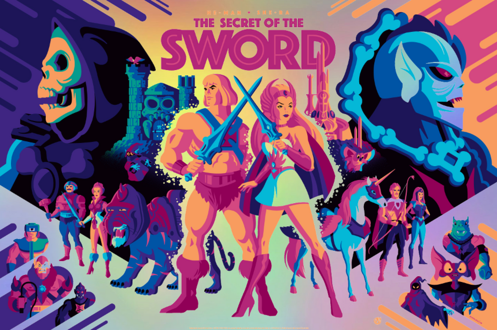 The Secret Of The Sword - Rainbow Foil - Mad Duck Posters