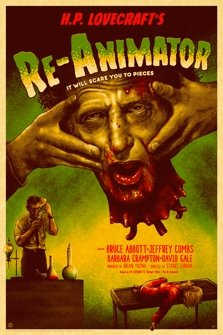 Re-Animator - Frankenstein Homage - Vintage Variant