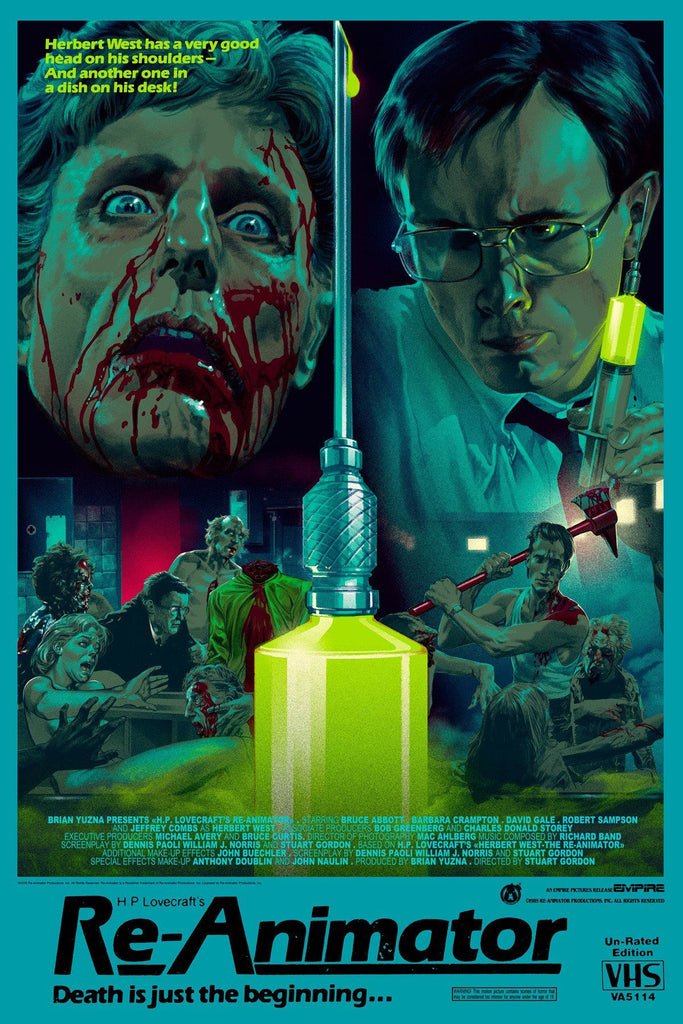 Re-Animator - VHS Variant - Mad Duck Posters
