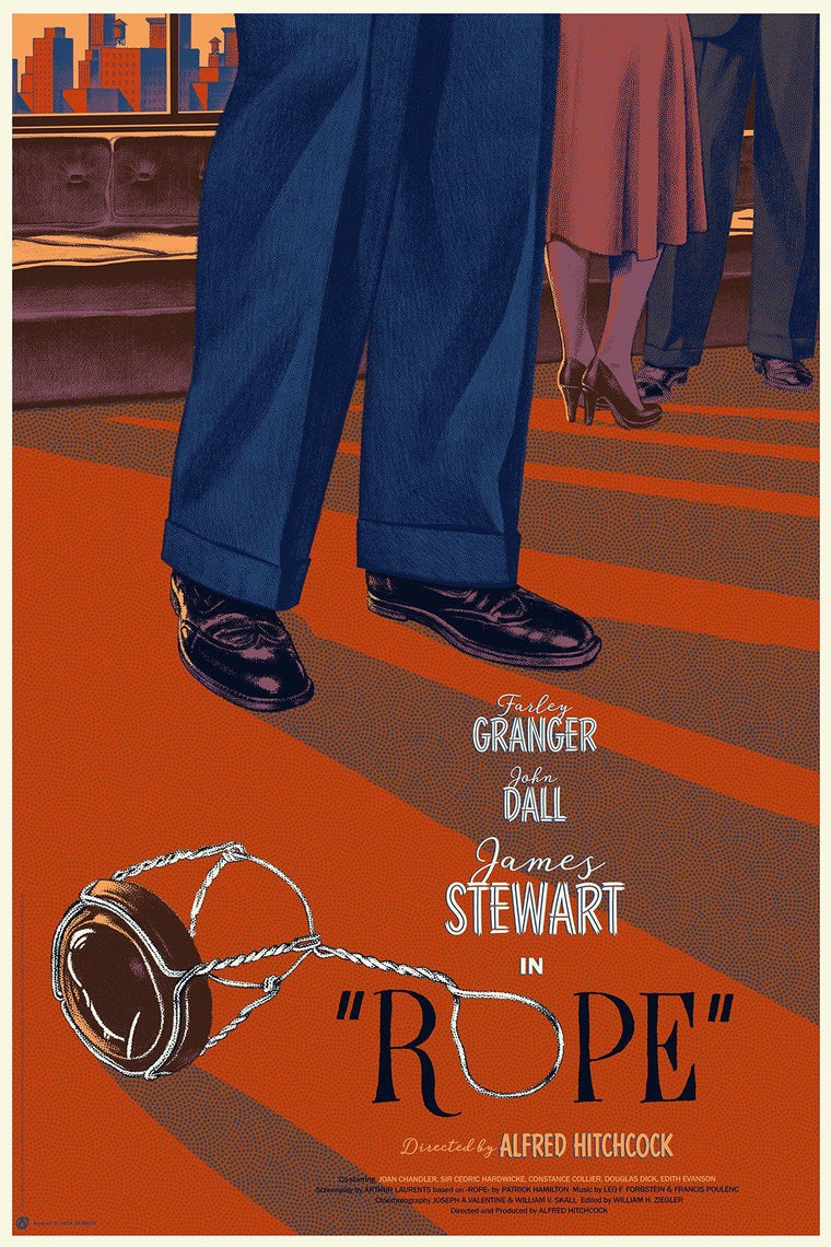 Vertigo, Rope and The Man Who Knew Too Much Matching Numbered Set - Mad Duck Posters