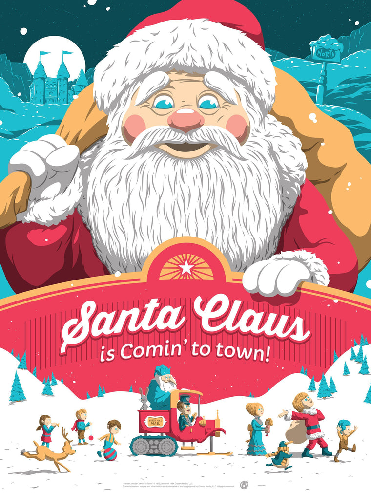 Santa Claus Is Coming To Town - Matching Number Set - Mad Duck Posters
