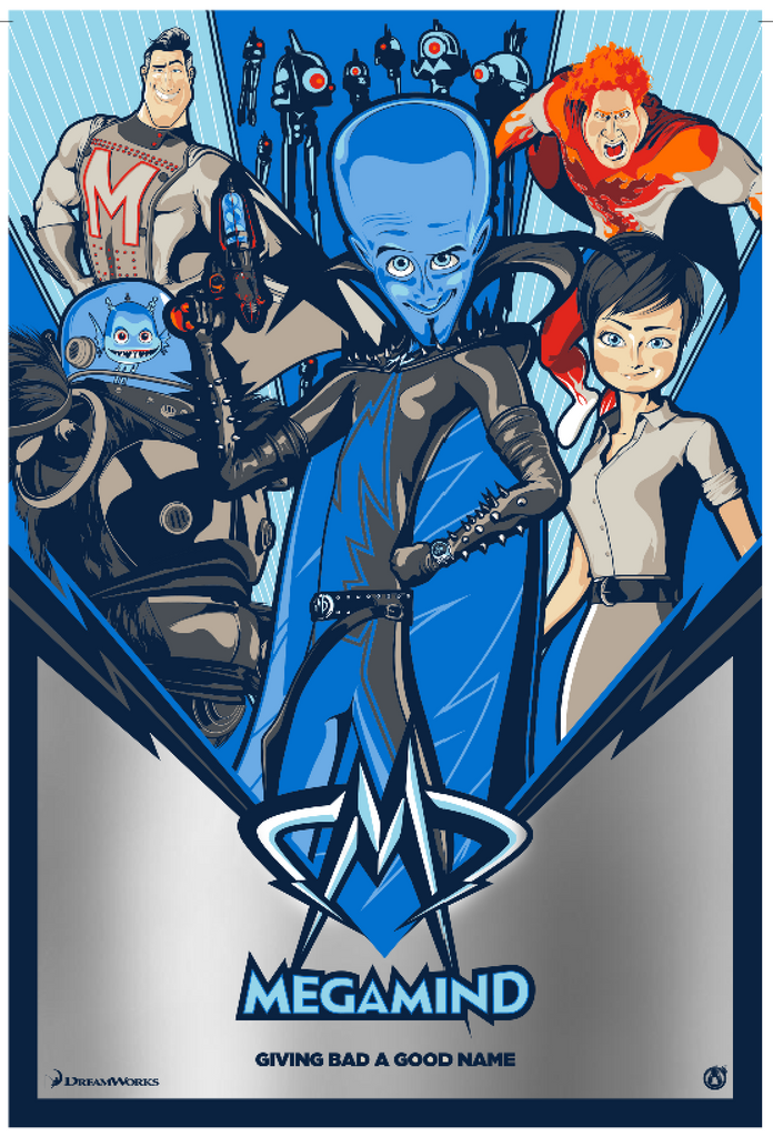 Megamind - Silver Foil Variant - Mad Duck Posters
