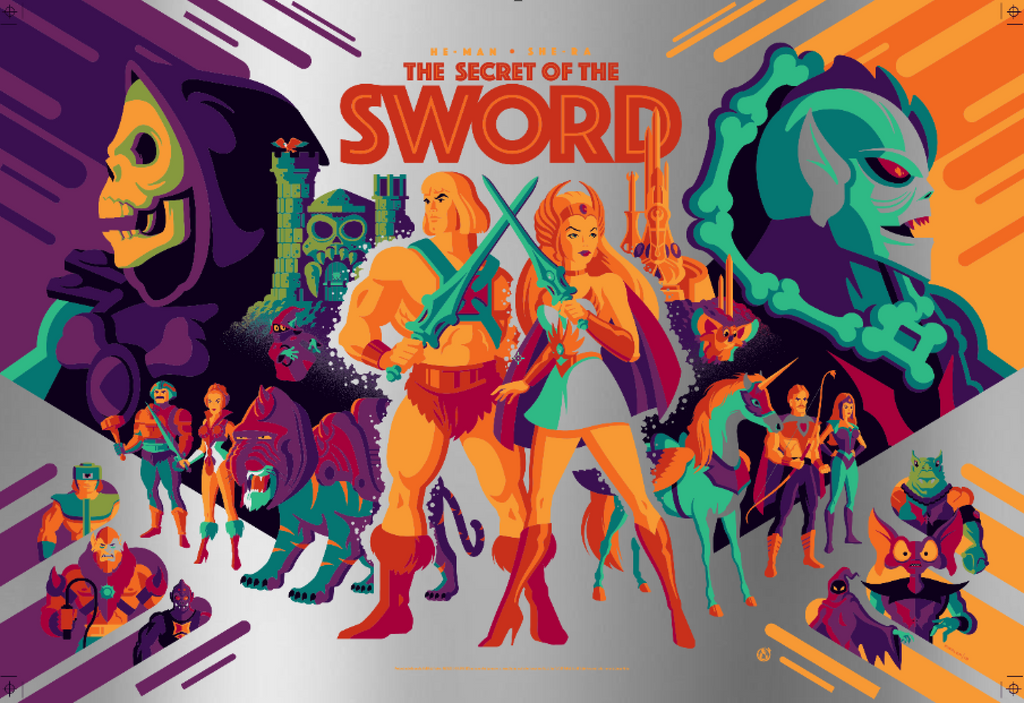 The Secret Of The Sword - Silver Foil - Mad Duck Posters