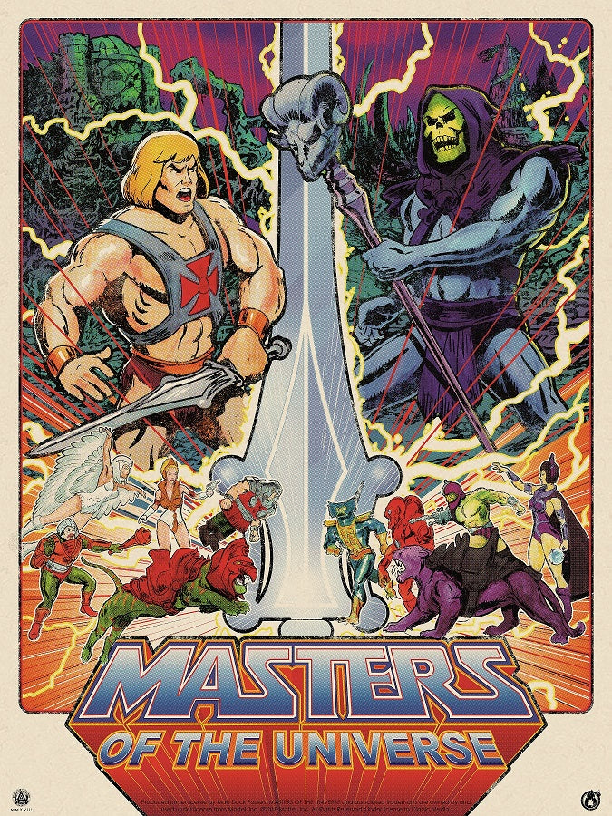 Masters - Rainbow Foil Variant - Variant Colorway - Mad Duck Posters