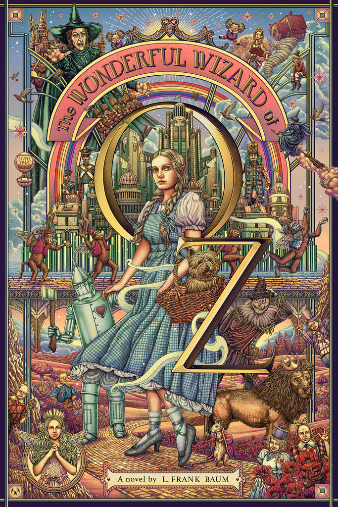 The Wonderful Wizard Of Oz - Purple Variant - Mad Duck Posters