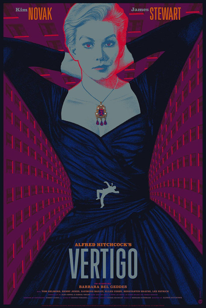 Vertigo - Psychedelic Variant Foil - Mad Duck Posters