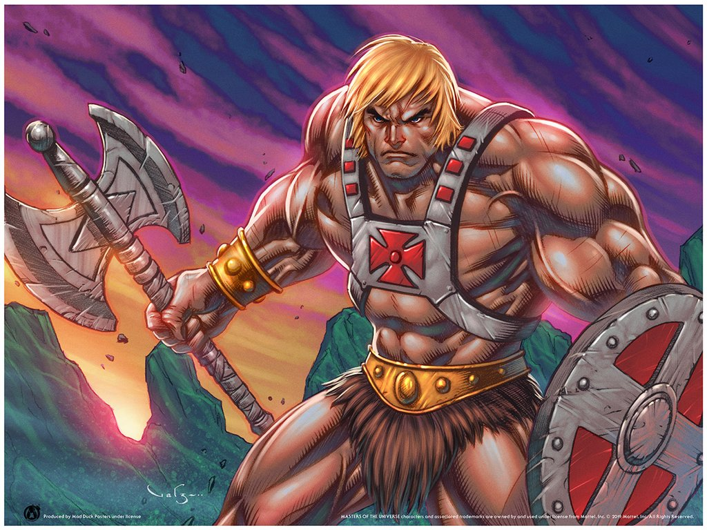 Carlos Valenzuela - Portfolio Set of 9 New MOTU Posters - Payment Plan - Mad Duck Posters
