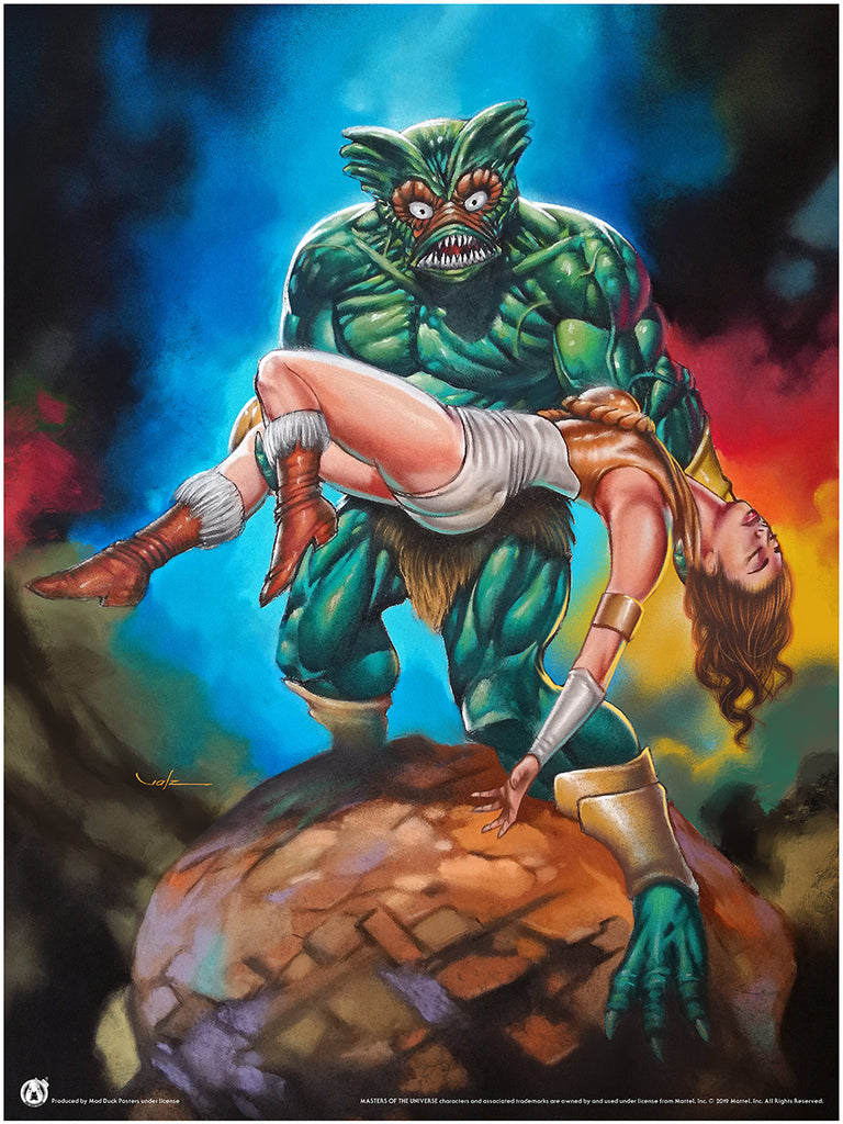 The Creature From The Blue Lagoon - Mad Duck Posters