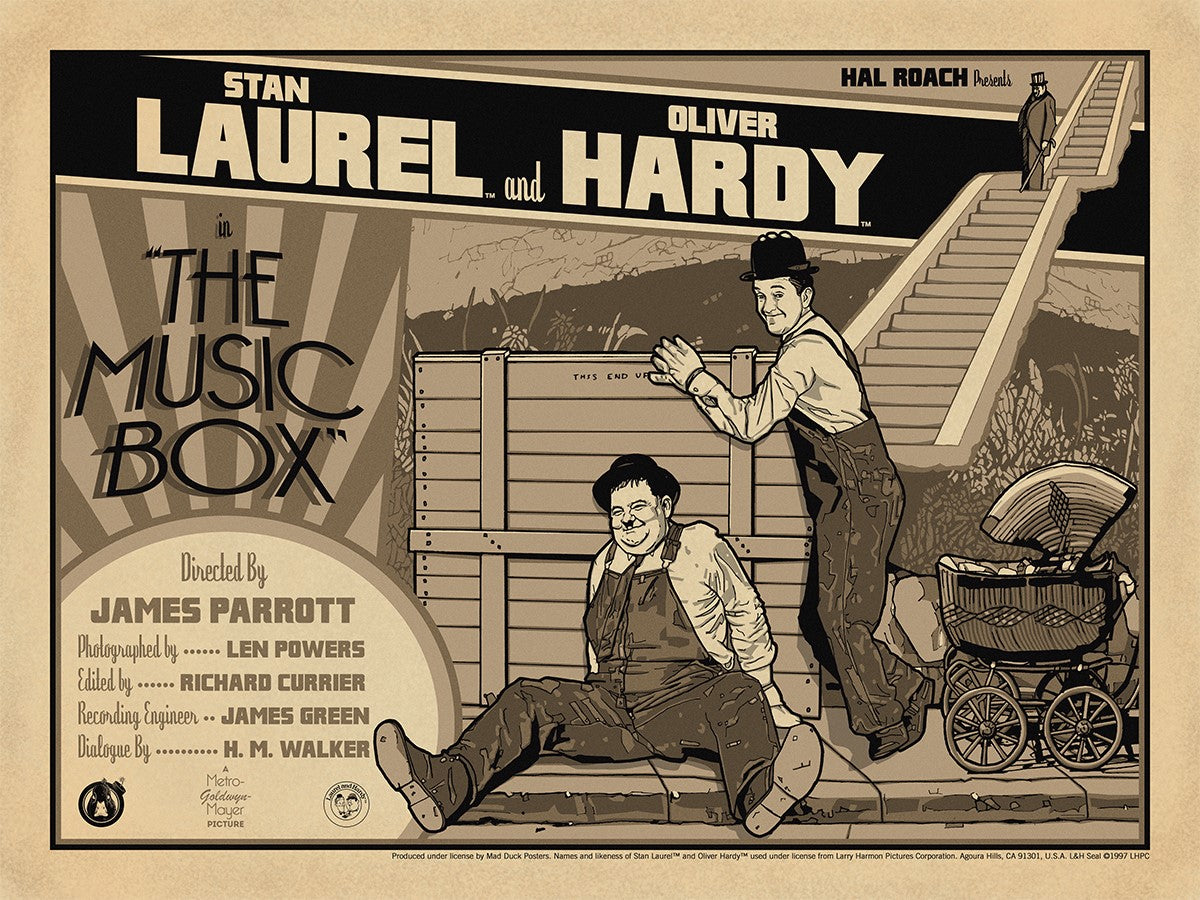 Laurel & Hardy The Music Box - Vintage Variant | Mad Duck Posters