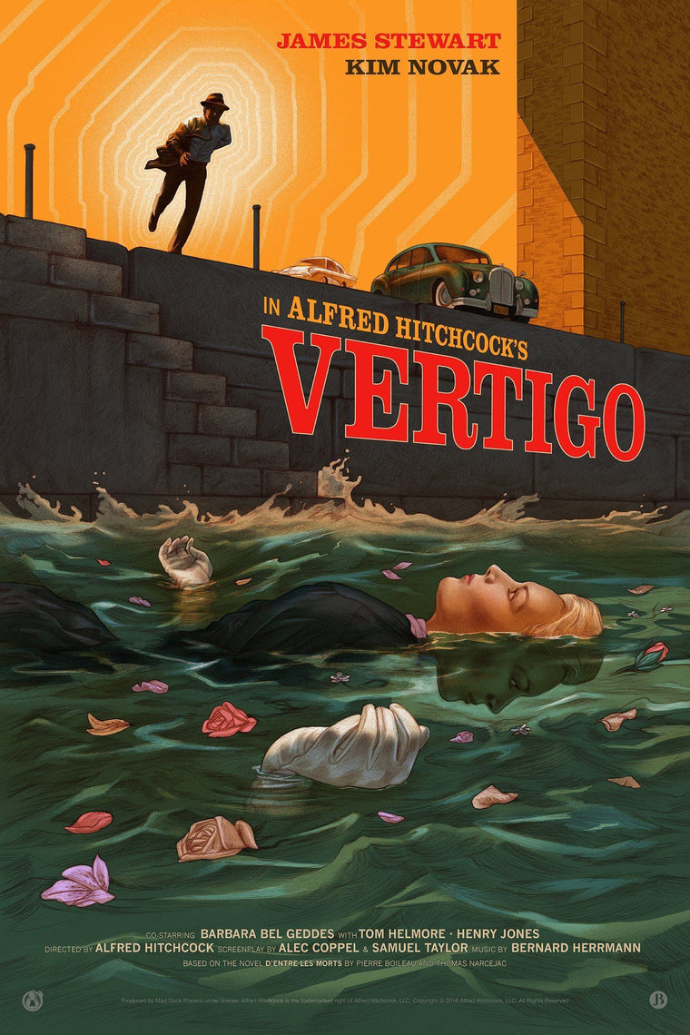 Vertigo & Rear Window - Matching Numbered Set - Mad Duck Posters
