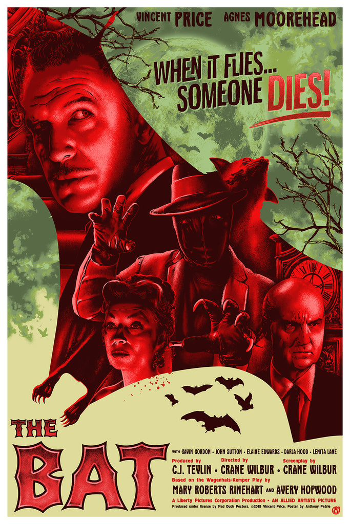 The Bat - Red Foil Variant - Mad Duck Posters