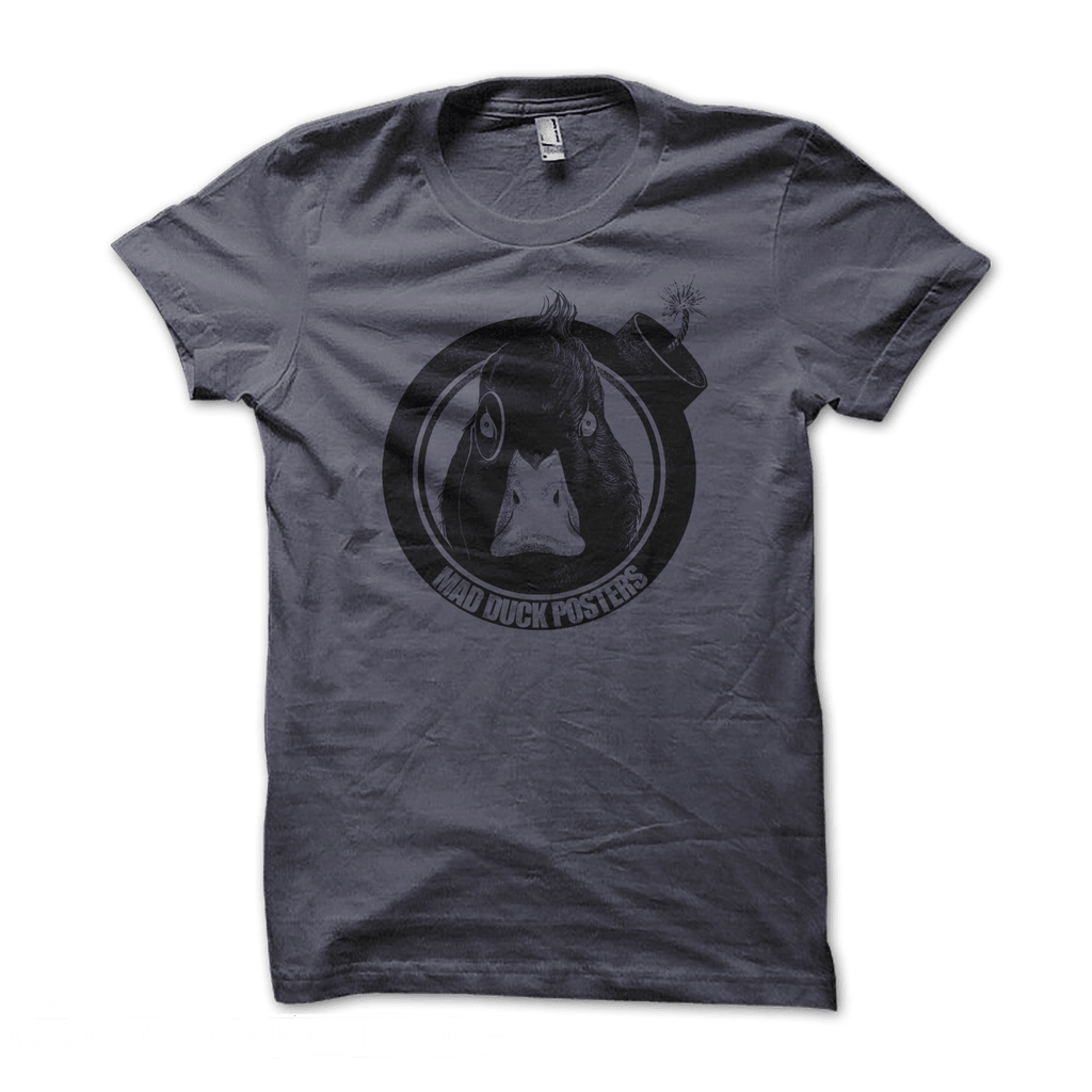 Mad Duck Logo T-Shirt - Charcoal - Mad Duck Posters
