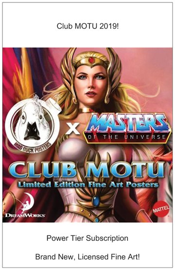 Club MOTU 2019 - Power Tier! - Mad Duck Posters