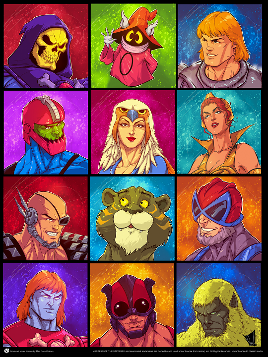 Reyad Yousri - Portfolio Set of 10 MOTU Posters - Mad Duck Posters
