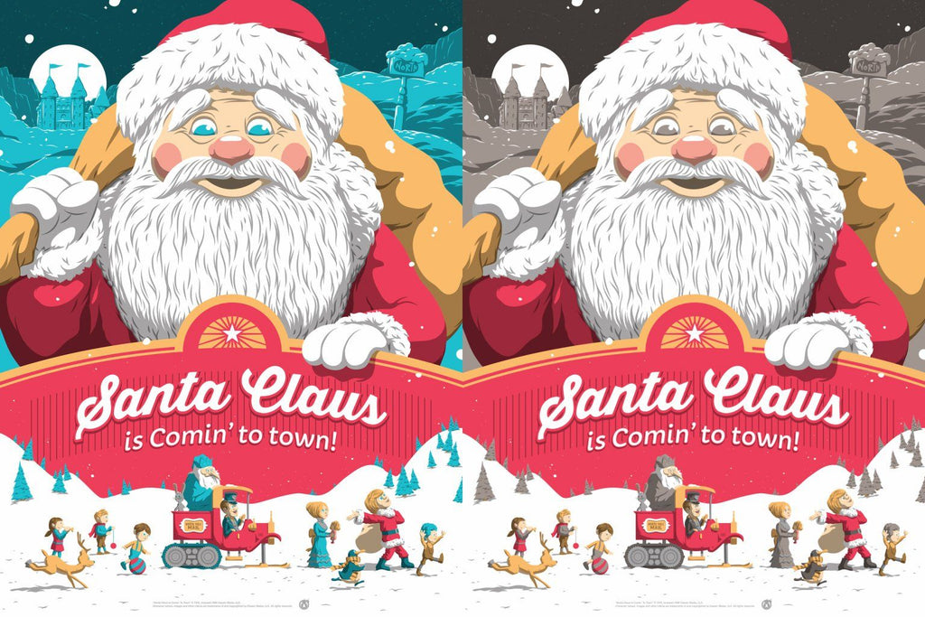 Santa Claus Is Coming To Town - Matching Number Set