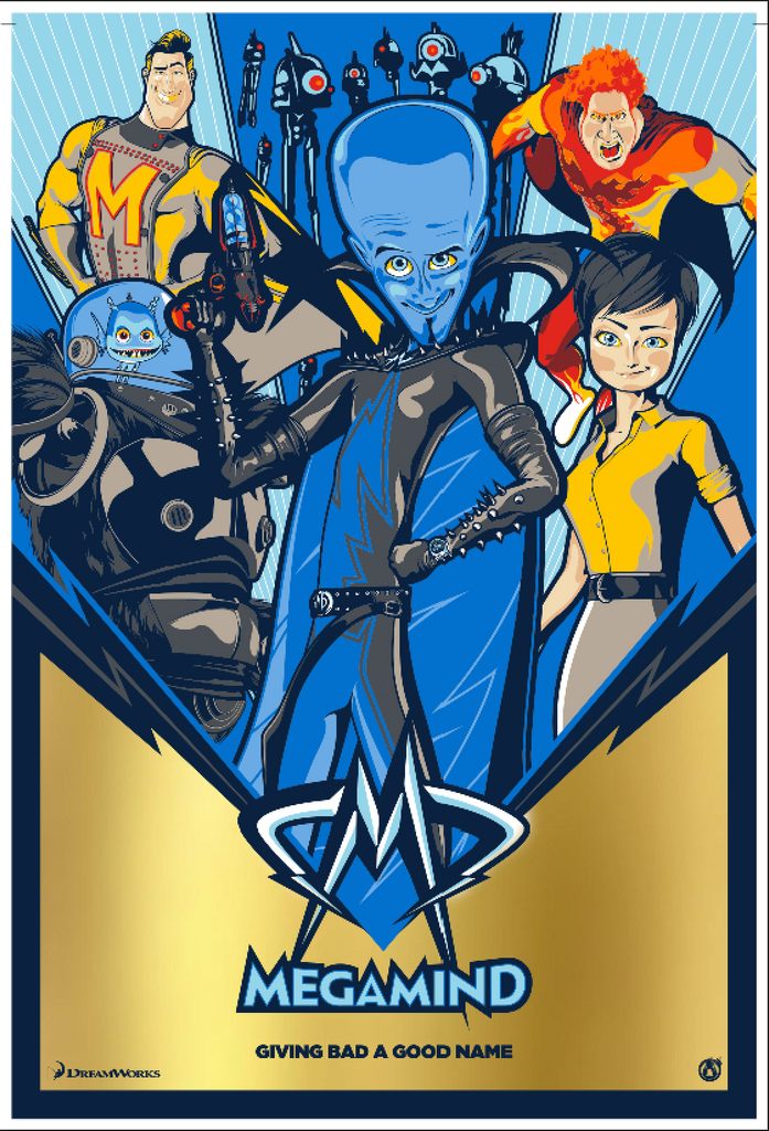 Megamind - Gold Foil Variant - Mad Duck Posters