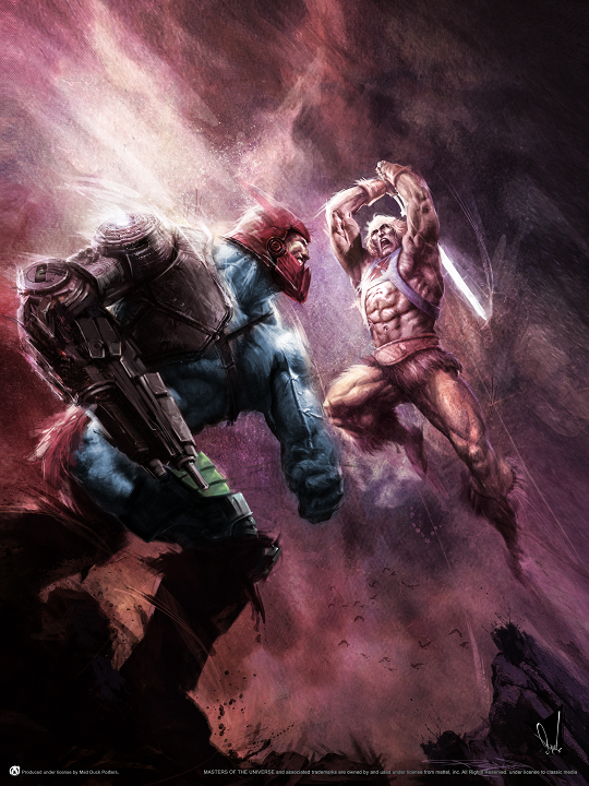 He-Man vs Trap Jaw - Mad Duck Posters