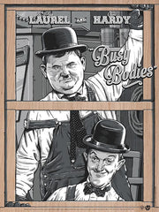 "Laurel & Hardy ""Busy Bodies"" - Wood Variant"