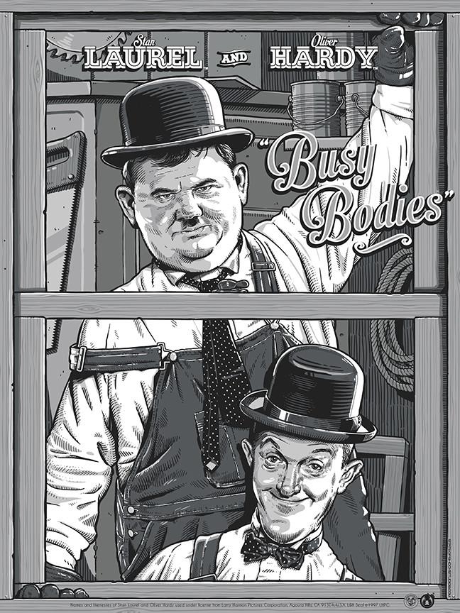"Laurel & Hardy ""Busy Bodies"" - Regular Edition - Mad Duck Posters"