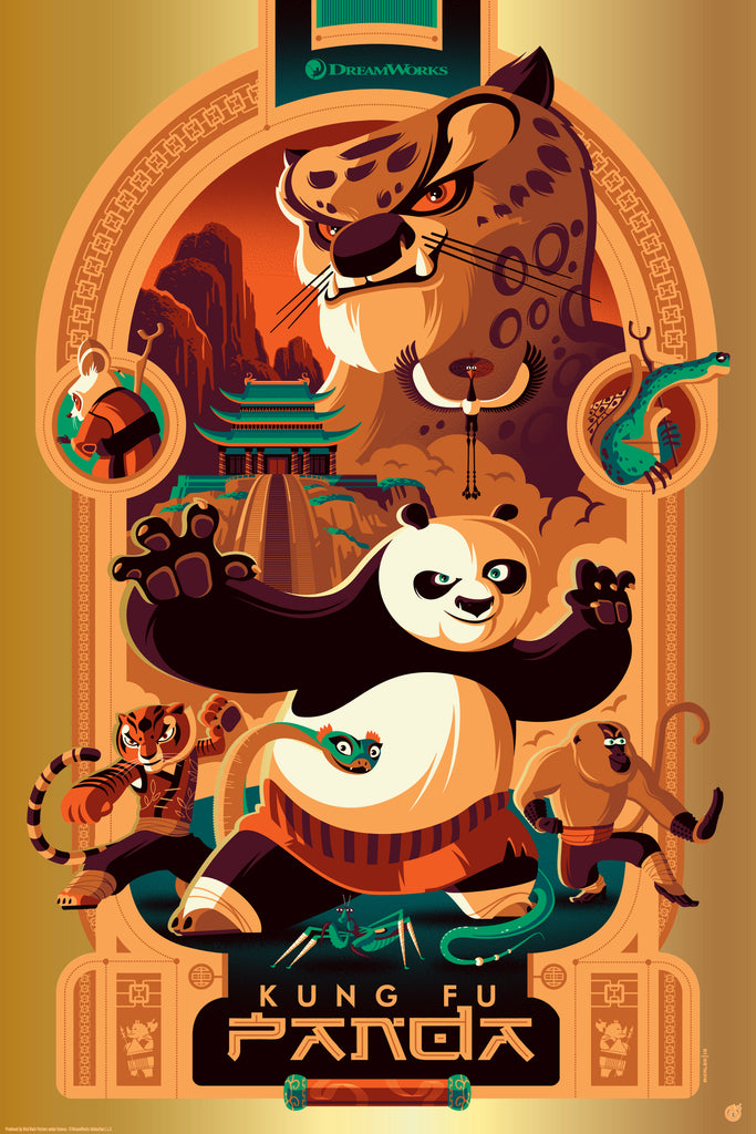 Kung Fu Panda - Golden Scroll Foil Variant - Mad Duck Posters