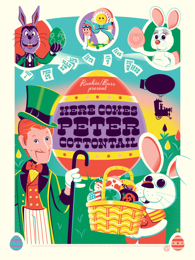 Here Comes Peter Cottontail - Regular - Mad Duck Posters