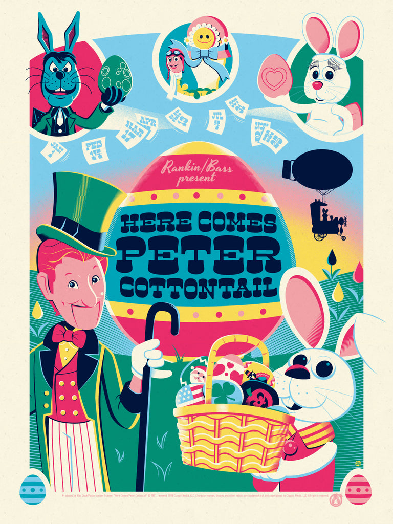 Here Comes Peter Cottontail - Variant - Mad Duck Posters
