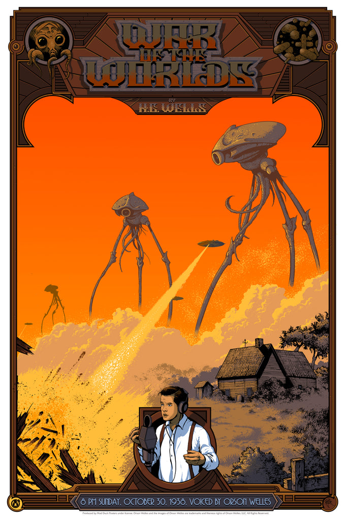 The War Of The Worlds - Variant - Mad Duck Posters