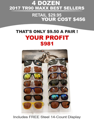 Motorcycling Sunglasses Package - 4 Dozen