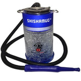 Shisha portable freezer mug hookah in blue.