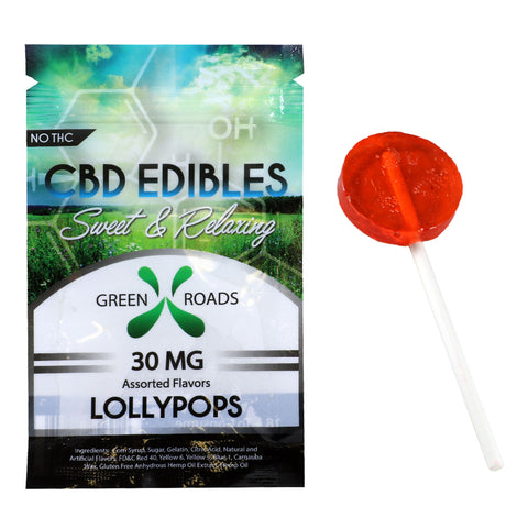 Green Roads 30MG CBD Lollypop Assorted Flavors