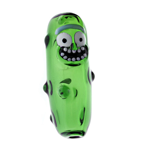 Rick & Morty Pickle Rick Glass Pipe by 13 Glass
