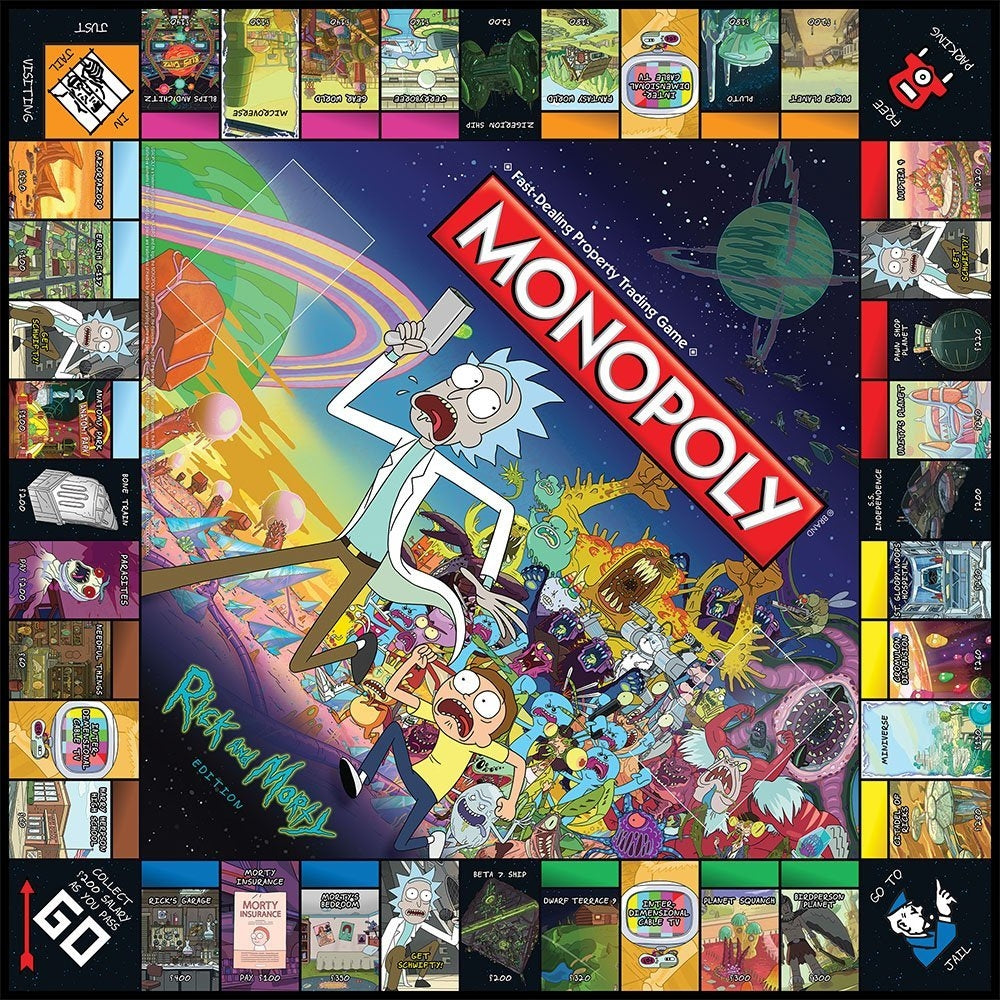Rick morty monopoly waterbeds 39 n 39 stuff for Waterbeds and stuff