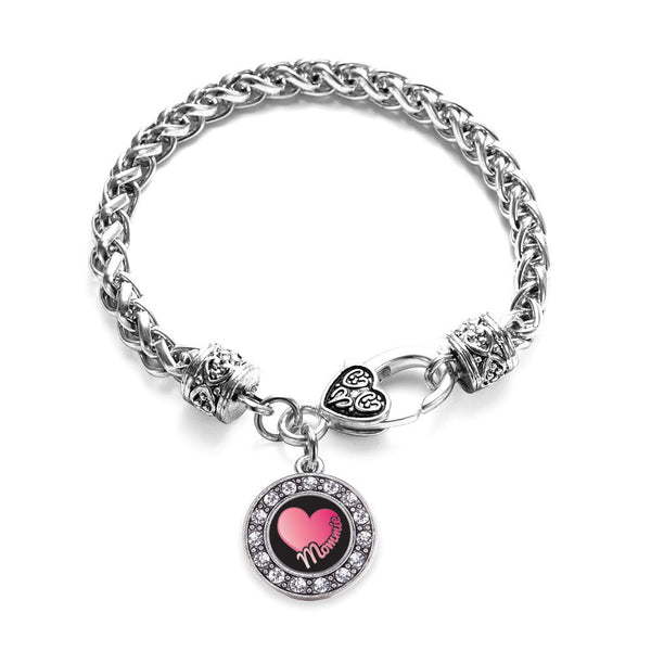Mommie Circle Charm Braided Bracelet