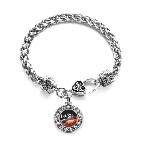 Hot Rod Circle Charm Braided Bracelet