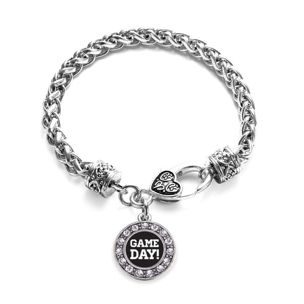 Game Day Circle Charm Braided Bracelet