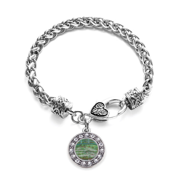 Monet Lily Pond Circle Charm Braided Bracelet