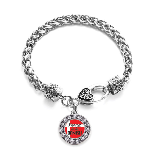 Proud to be Danish Circle Charm Braided Bracelet
