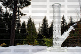 Frosted Straight Shot Water Pipe