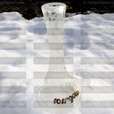 Frosted Crystal Glide Water Pipe