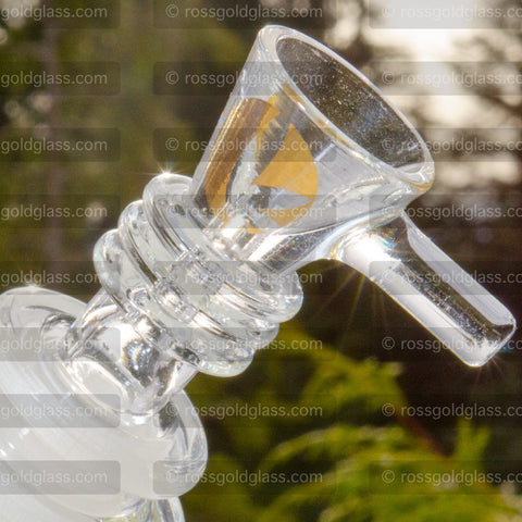 Ross' Gold™ Glass 14mm Emblem Black Double Wide Dome