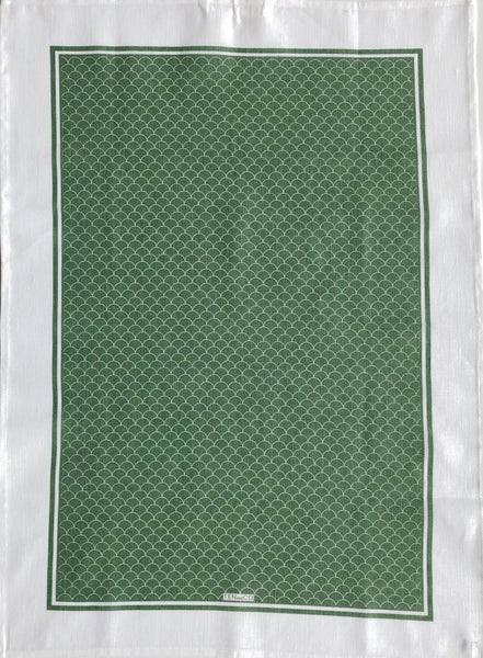 Tea Towel Scallop Sage