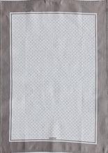 Load image into Gallery viewer, Tea Towel Scallop White on Warm Grey