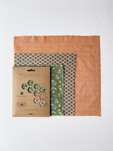 Geo Trio Beeswax Wrap 3-Pack