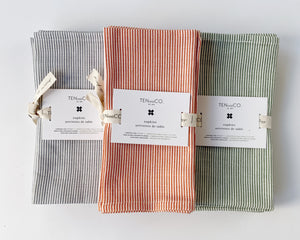 Everyday Napkins Set of 4 - Stripes, Denim