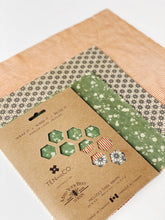 Load image into Gallery viewer, Geo Trio Beeswax Wrap 3-Pack