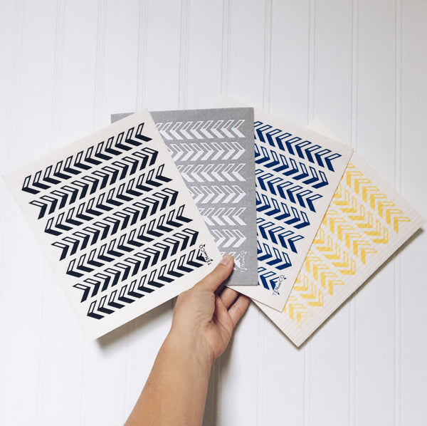 Arrow Blue Sponge Cloth