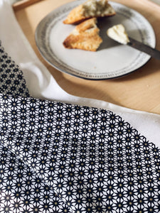 Tea Towel Starburst Gold and Black