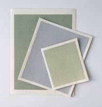 Load image into Gallery viewer, Stripe Sage Sponge Cloth