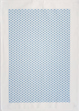Load image into Gallery viewer, Tea Towel Starburst Blues on White